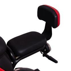 e-Move: Lisäistuin ja selkänoja sekä jalkatuki ja kiinnikkeet, Punainen