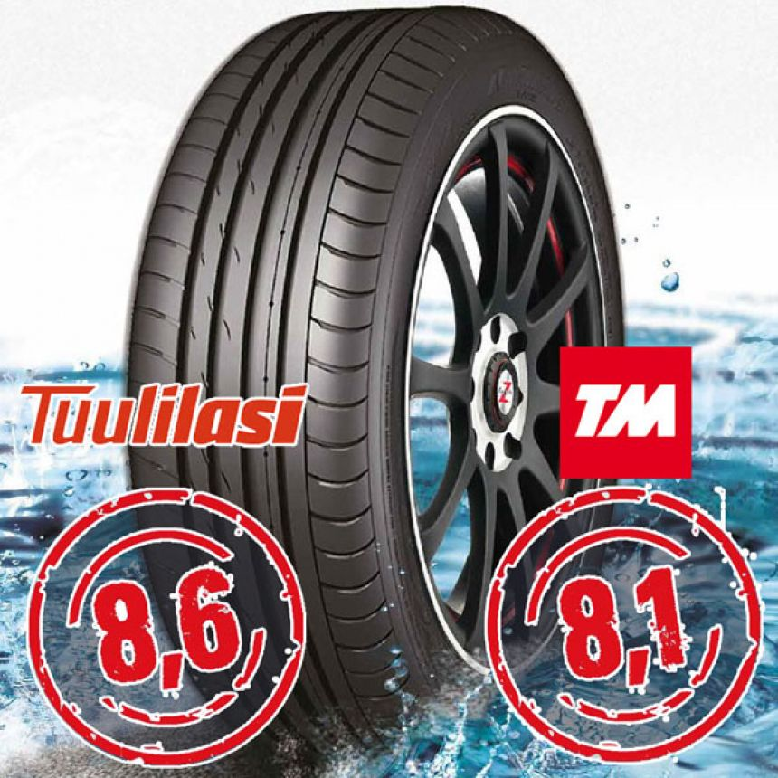 Sportnex AS-2+ TM- ja Tuulilasi-testimenestys 255/30-20 Y