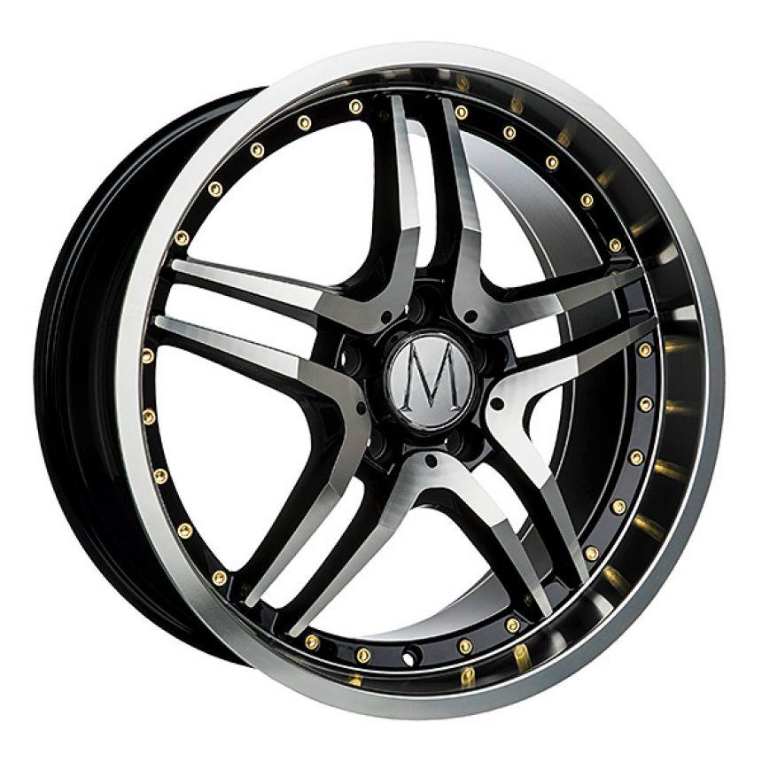 GT Black Polished Gold Rivets 8x18
